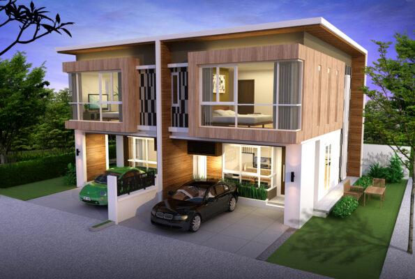 บ้านแฝด-แบบไม่มีรั้ว