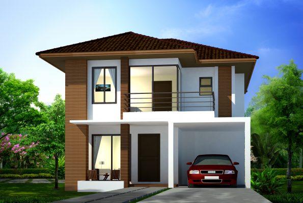 3Dบ้านเดี่ยว 2 ชั้น TYPE-B REVISE